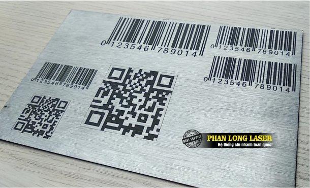 Xưởng gia công in khắc laser mã vạch, in khắc thông số kỹ thuật, in khắc logo, in khắc mã QR code theo yêu cầu giá rẻ