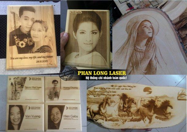 Địa chỉ công ty chuyên nhận khắc hình ảnh chân dung lên gỗ bằng máy laser uy tín giá rẻ làm nhanh lấy liền