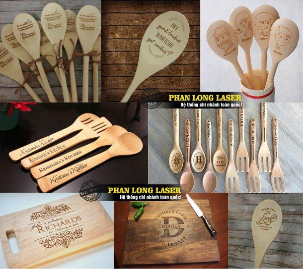 Cơ sở chuyên nhận khắc laser lên quà tặng bút gỗ, vật dụng bằng gỗ giá rẻ
