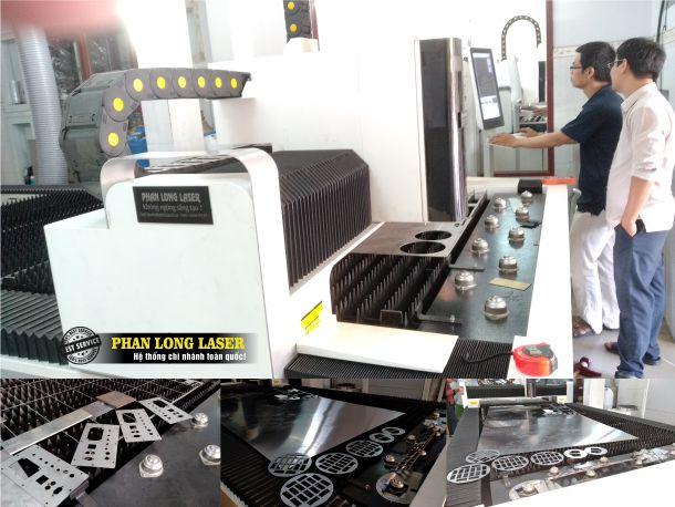 Hình ảnh máy cắt laser kim loại inox đồng nhôm chuyên dụng tại Xưởng Phan Long Laser